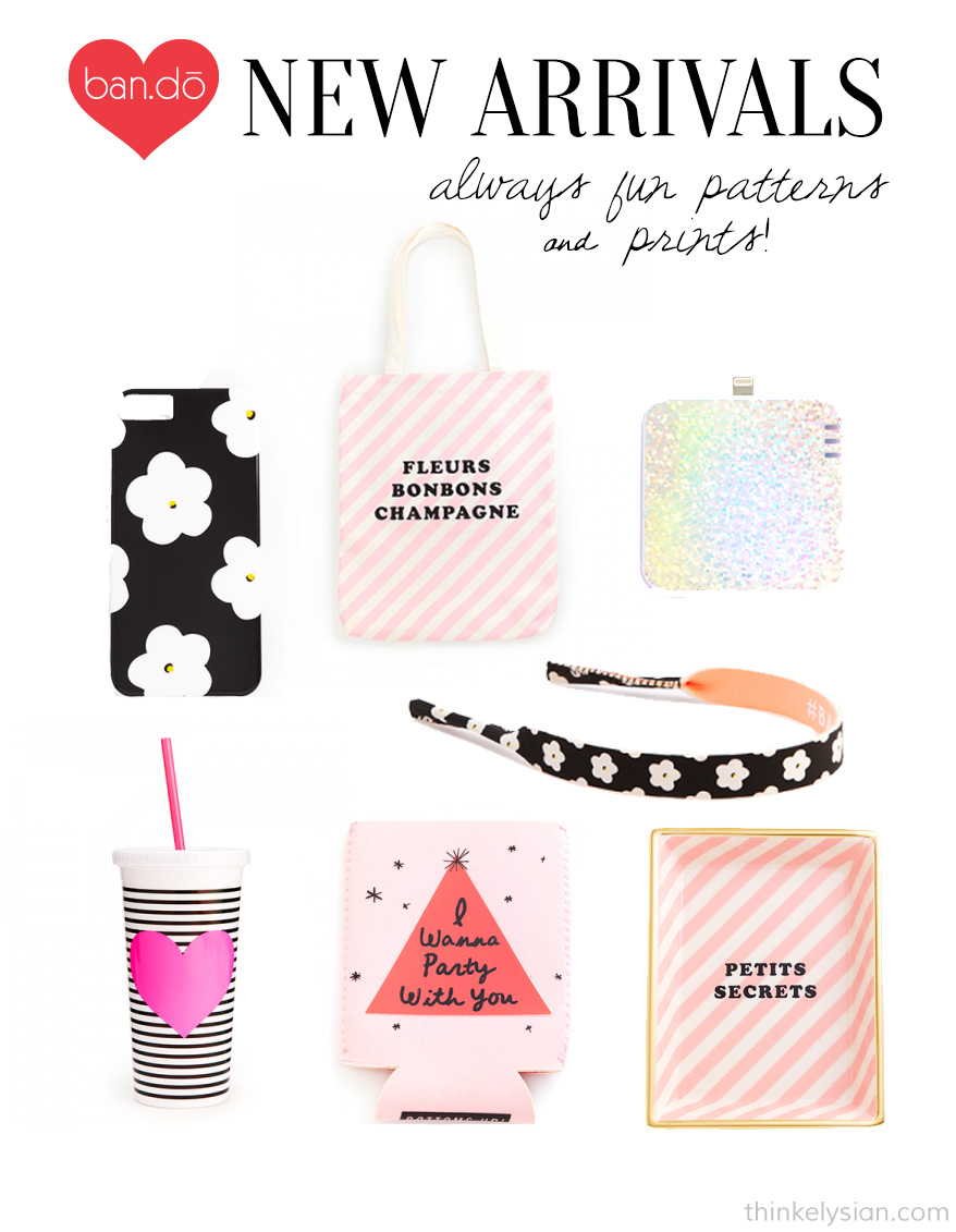 shop bando, ban.do, fun prints and patterns, fun accessories, think elysian