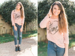 Valentine's day style - cozy printed tee & high waisted jeans with ankle boots www.thinkelysian.com
