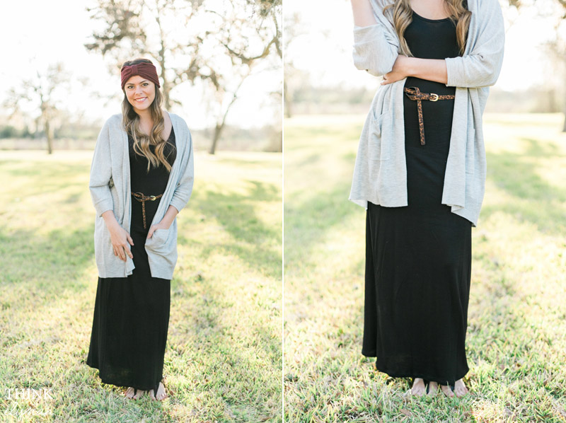 boho chic maxi dress styled with headband and leopard print - www.thinkelysian.com