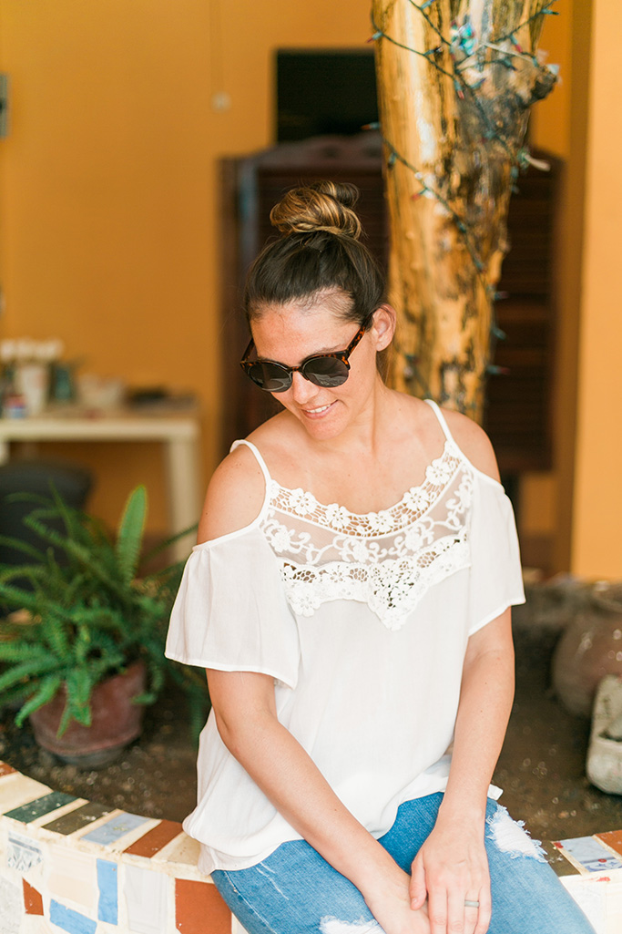 Open Shoulder lace top perfect for summer! Available now at shop.thinkelysian.com!