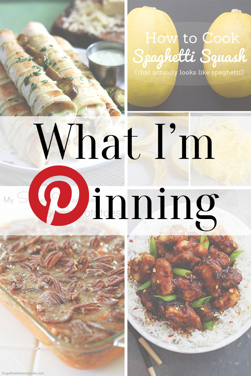 What I'm Pinning - Yummy menu for the week! www.thinkelysian.com