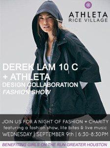 Think Elysian Loren Ferguson walking in Derek Lam + Athleta collaboration fashion show - houston blogger