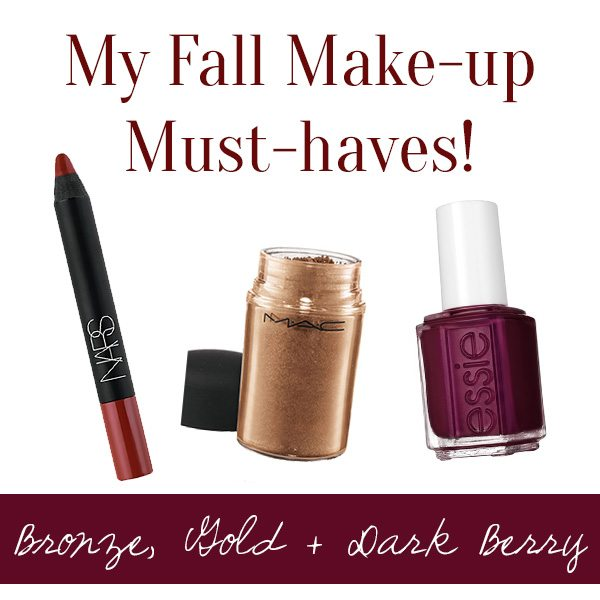 My Fall Make-up Must-Haves! Bronze, Gold, & Dark Berry | www.thinkelysian.com
