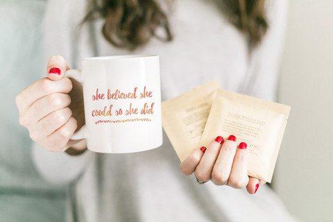 Cute Coffee Mugs // Young Mountain Tea review // www.thinkelysian.com