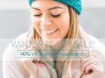 Winter Flash Sale! No code needed - Hurry! 40% off all scarfs & headbands! Shop now! // shop.thinkelysian.com