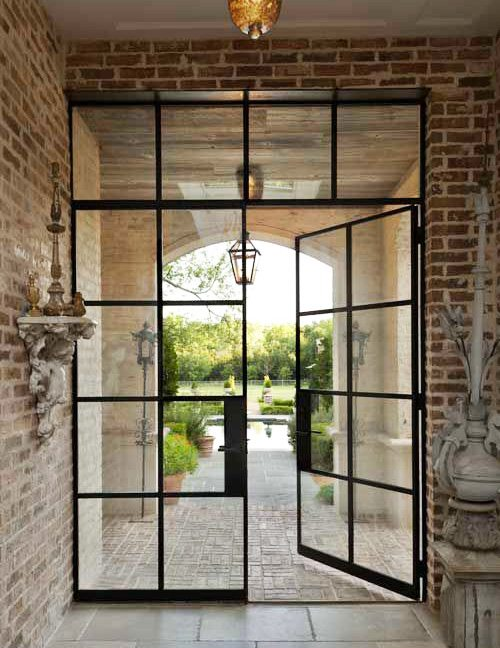 What I'm Pinning: Steel Frame Industrial Doors // www.thinkelysian.com