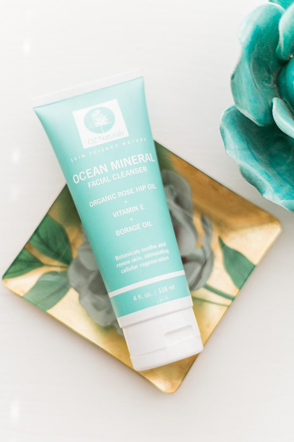 OZ Naturals' Ocean Mineral natural facial cleanser // www.thinkelysian.com