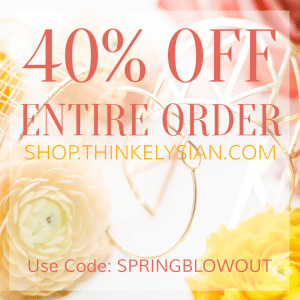 Spring Blowout Sale at Think Elysian Boutique! // shop.thinkelysian.com