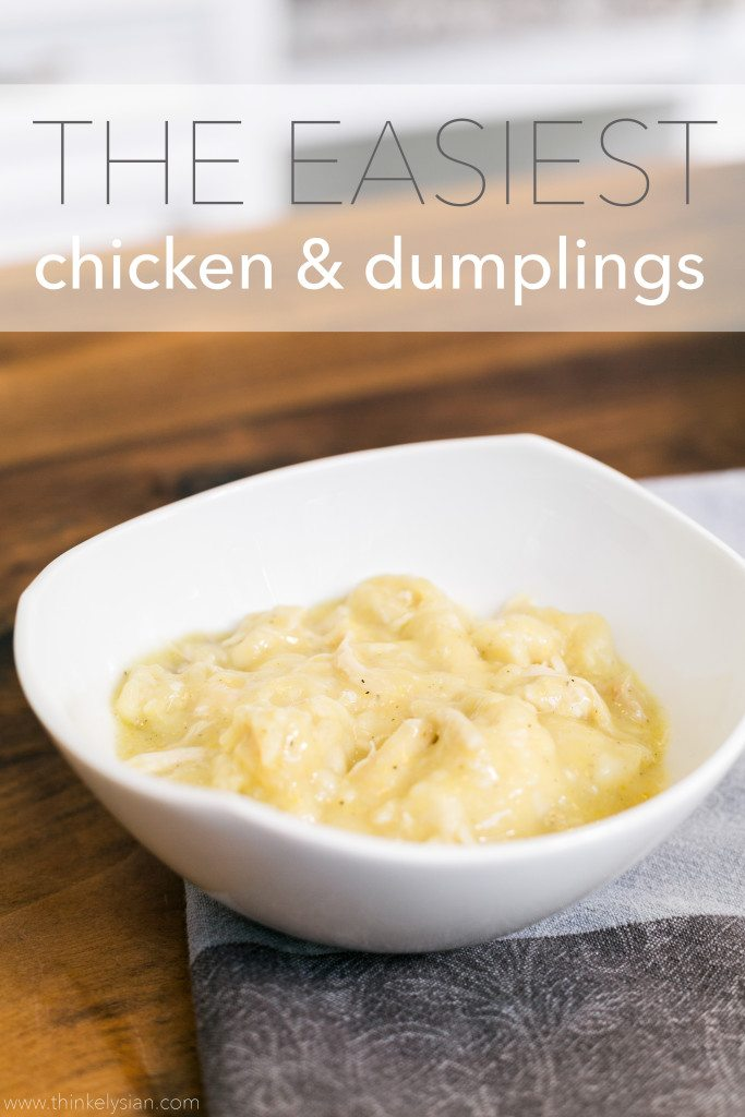 Easy Chicken and Dumplings Recipe // www.thinkelysian.com