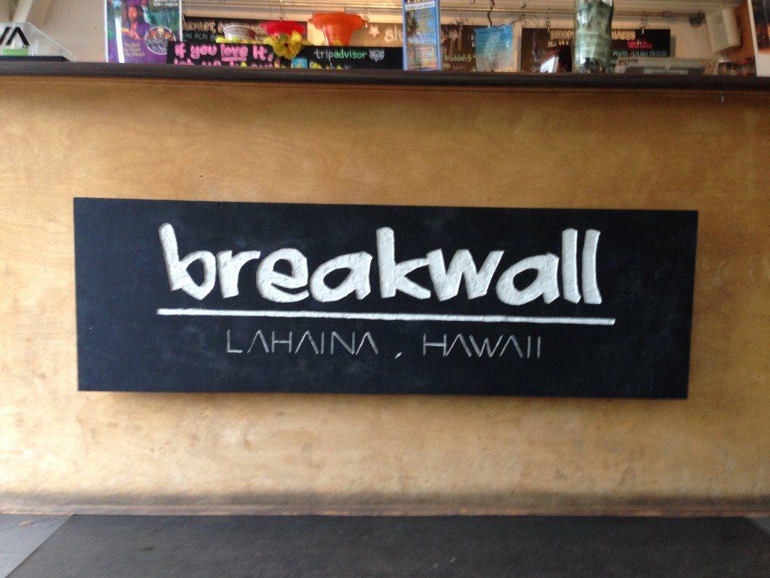 Breakwall Maui Shave Ice Co. in Lahaina, Maui Hawaii in Think Elysian Travel Vlog // thinkelysian.com