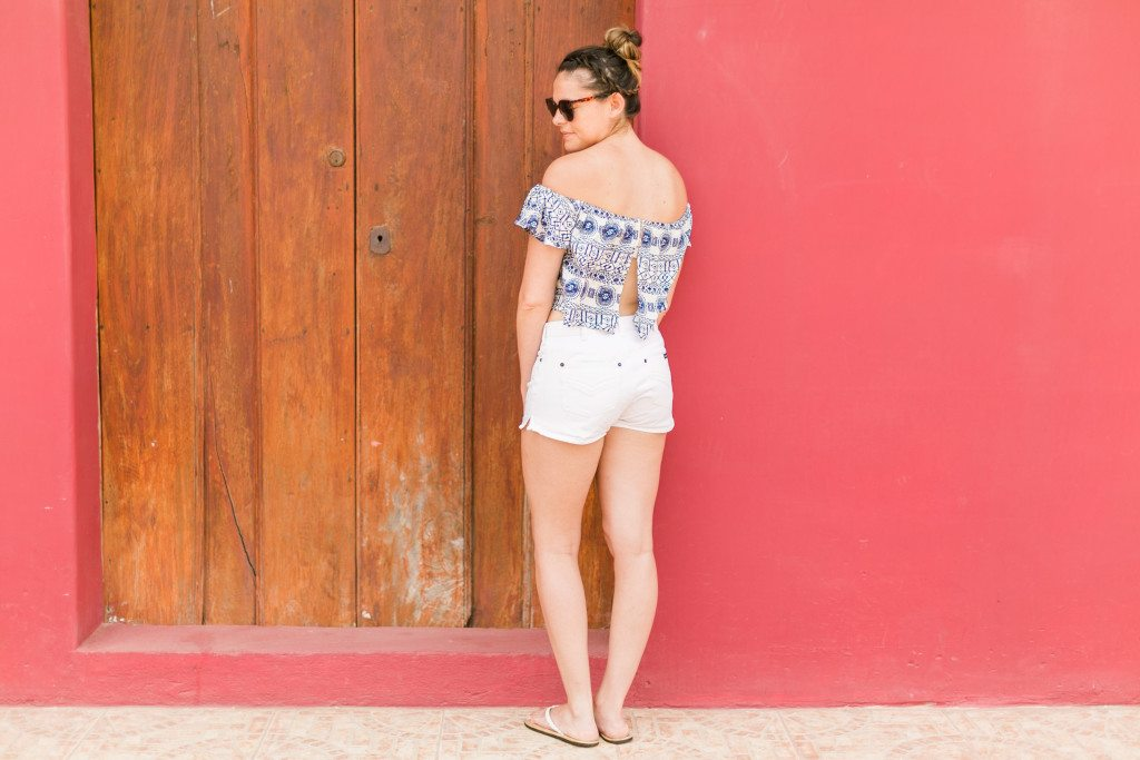What I Wore in Nicaragua: Off-Shoulder Trend // www.thinkelysian.com