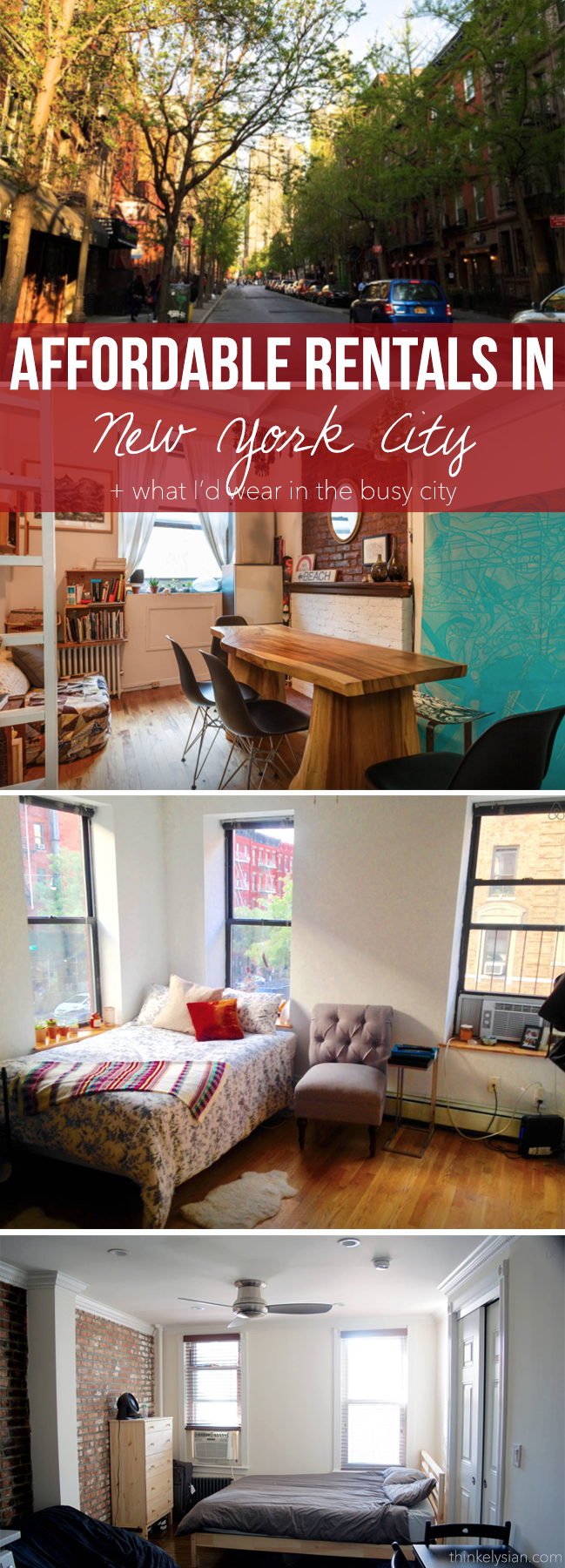 Affordable Rentals in New York City + What I'd Wear! // thinkelysian.com