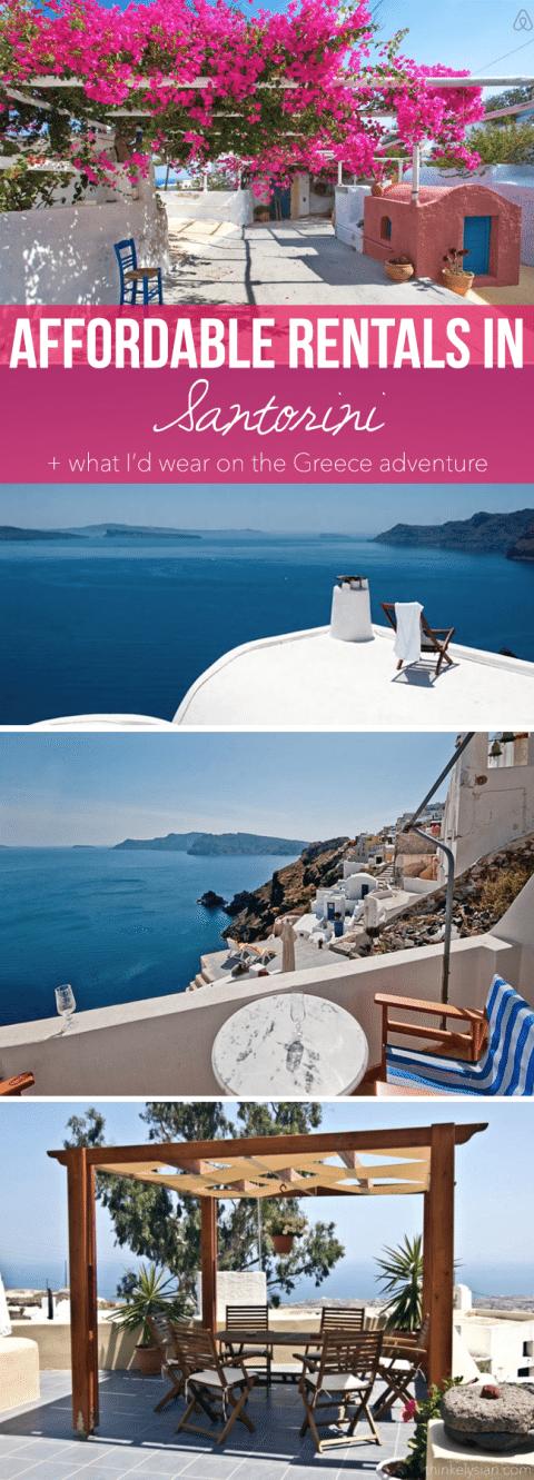 Affordable Rentals in Santorini Greece + What I'd Wear! // thinkelysian.com