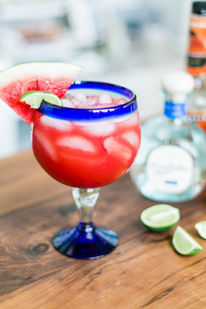 Refreshing Watermelon Margarita Recipe // thinkelysian.com
