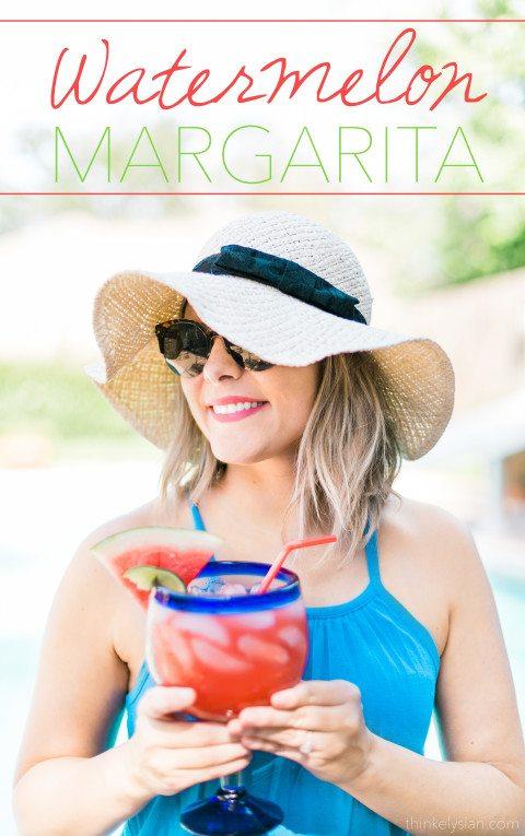 Refreshing Watermelon Margarita Recipe // thinkelysian.com