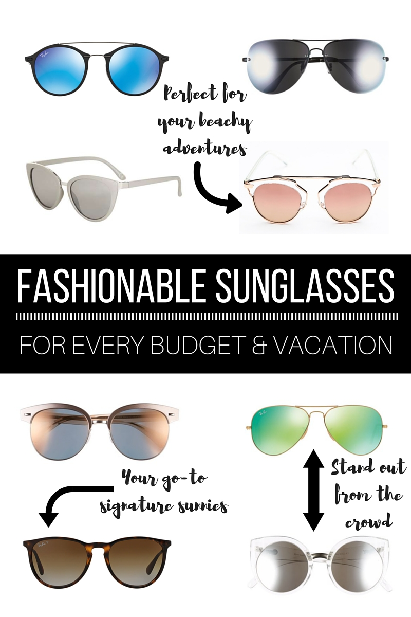 Fashionable sunglasses for every budget and vacation // thinkelysian.com