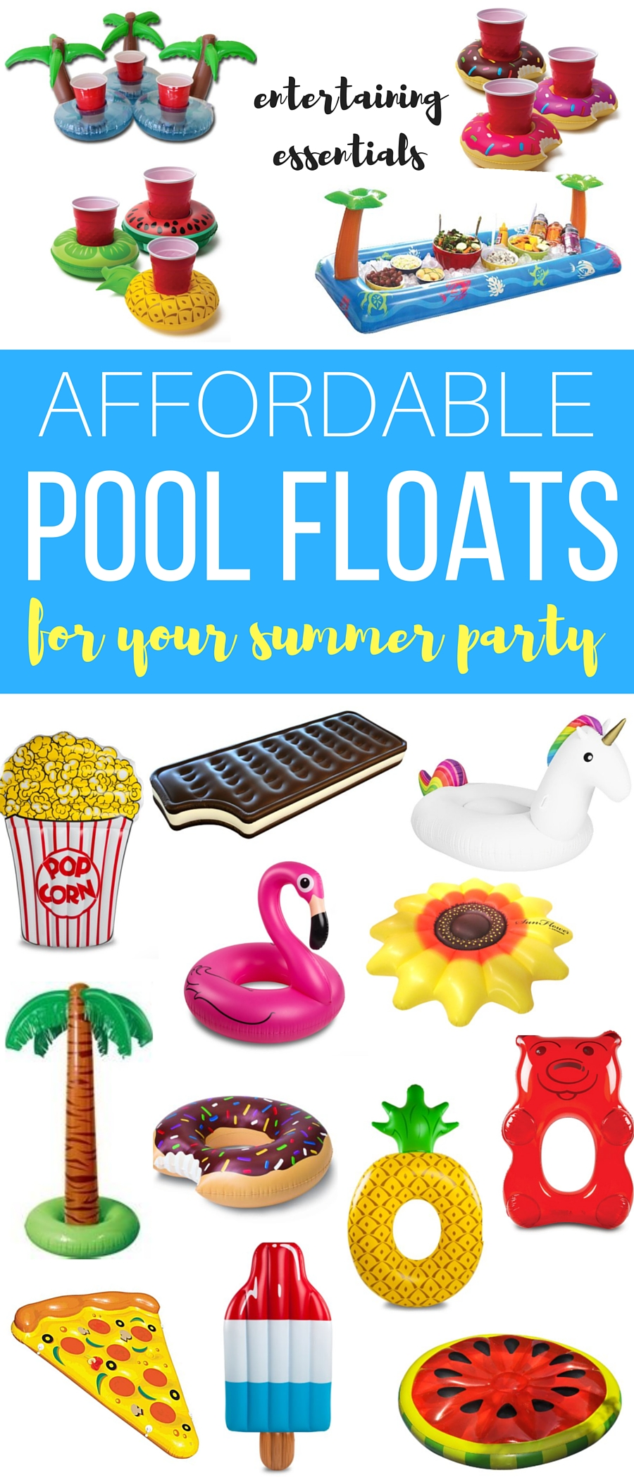 Affordable pool floats for your summer party // thinkelysian.com