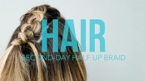 Second day hair tutorial: Half Up Braid perfect for traveling // thinkelysian.com