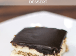Super easy no bake chocolate eclair dessert recipe! // thinkelysian.com